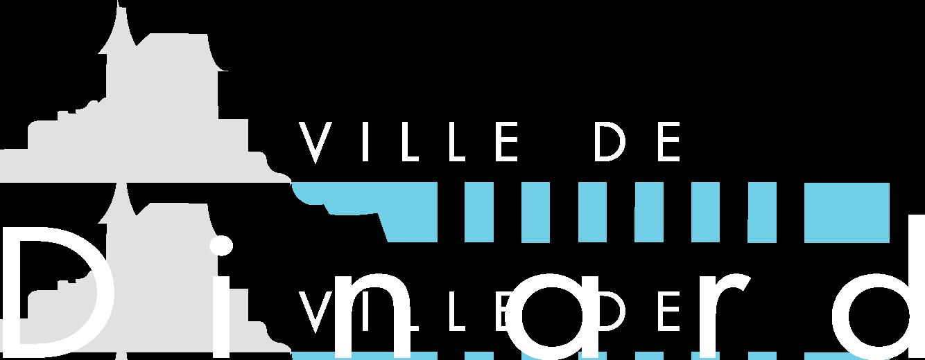 Logo ville de dinard pour fond noir